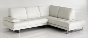 canape d'angle blanc